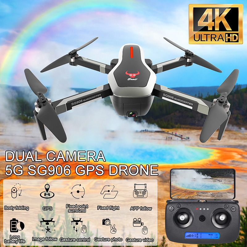 SG906 Wirless Camera Drone Rotating Camera Quadcopter Aerial Photography RC Helicopter With GPS Positioning Route Plan Fuction