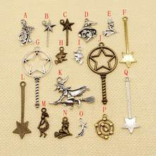 3 Piece metal bronze silver charms pendant for jewelry making bracelet charms mix jewelry findings components(China)