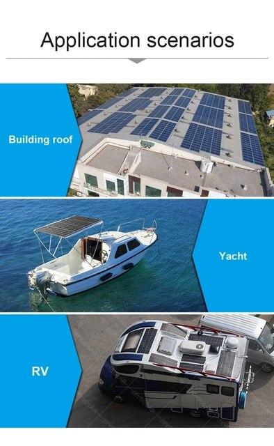 Chine fournir 100W 12V panneau solaire Flexible 100W panneaux solaires cellules Kits monocristallins pour le Camping