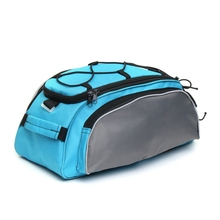 TOP!-Outdoor Bicycle Back Pack Bike Rear Seat Saddle Bag Shoulder Handbag Cycling Storage Pannier Riding Travel Bag цена