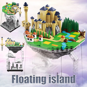 BZDA Kreativität Retro gebäude Schwimm Insel Anti-Schwerkraft Bausteine Tensegrity Physik Balance Moc Bau Kinder Spielzeug