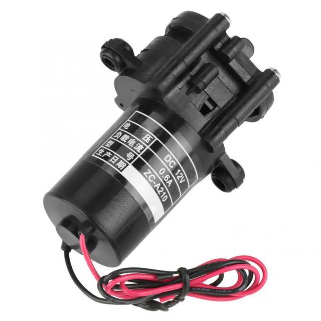 ZC A210 12V Mini pompa wodna z tworzywa sztucznego o wysokiej wydajności samozasysająca przekładnia DC