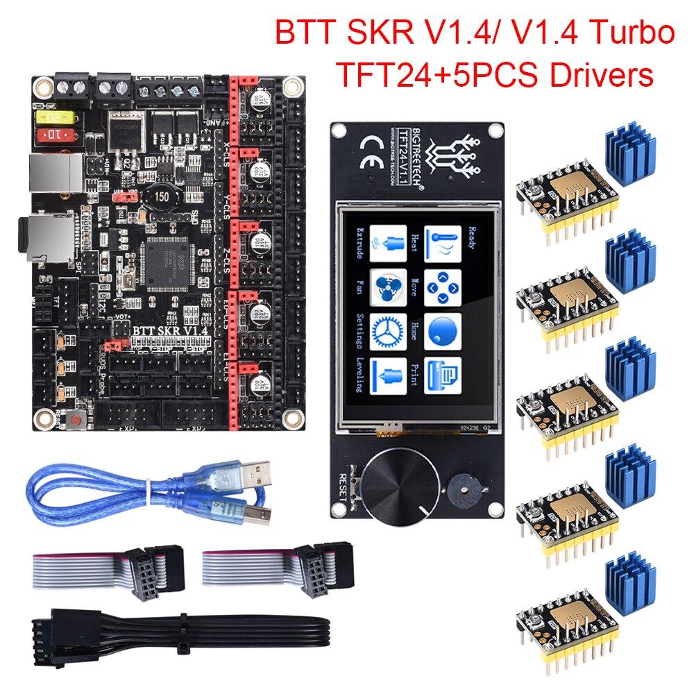 BIGTREETECH BTT SKR V1.4 SKR V1.4 Turbo Control Board TFT24 Touch Screen Upgrade SKR V1.3 TMC2209 TMC2208 Stepper Motor Driver