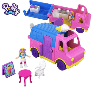 Image 4 - מקורי פולי Pocket מיני פולי קטן תיבת חנות בנות רכב צעצועי עולם מיני סצנת צעצוע מתנת ילדה בובת בית אבזרים juguetes