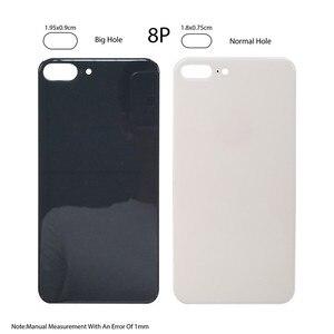 Image 3 - 10 ピース/ロット高品質ビッグホールバック交換部品 iphone 8 8 プラスバッテリードア裏表紙ための iphone ×