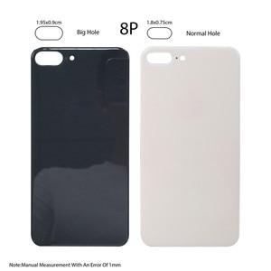 Image 3 - Piezas de Repuesto de cristal para iPhone 8 8plus, cubierta de batería, carcasa de puerta trasera para iphone X, 10 unids/lote