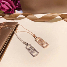 Diana high quality fit Bulgaria S925 sterling silver necklace brand design fashion luxury rose gold jewelry couple wedding gift diana high quality for bulgaria s925 sterling silver necklace rotating round cake shape brand design ladies fashion jewelry