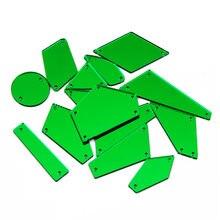 Ctpa3bi плоские стразы акриловые зеркальные камни 30 шт зеленые