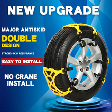 цена на Car snow chain double buckle snow chain snow tire tendon thickening anti-skid universal emergency Anti-skid chains wheel chains