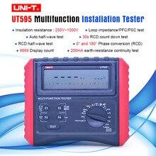 UNI T UT595 dijital RCD test cihazı çok fonksiyonlu döngü test cihazları topraklama hattı döngü empedans test cihazı İzolasyon direnci ölçer