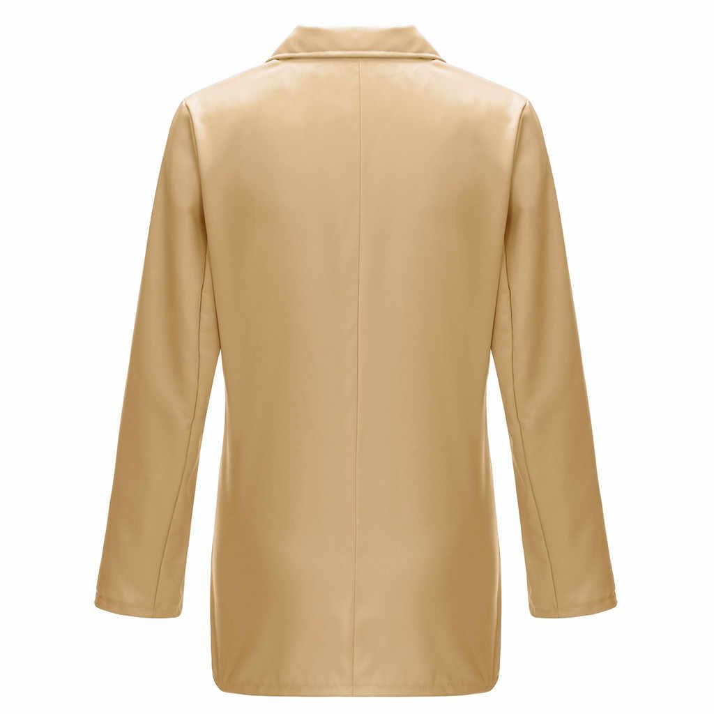 Blazer vrouwen elegante Dames Effen Turn Down Kraag jassen Lange Mouwen Jas Bovenkleding winter blazer feminino campera de mujer