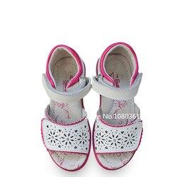 Lato 1 para dziewczyna sklepienie łukowe prawdziwej skóry ortopedyczne dziewczyna dzieci sandały wewnętrzna długość 17-20.2cm  Super wysokiej jakości buty