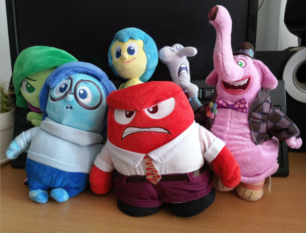 Hot Sale  Plush Toys Sadness Fear Joy Disgust Anger Soft Stuffed Toys Doll Inside Out Toys For Kids