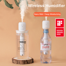 JISULIFE Mini Wireless Air Humidifier Portable Silent Aroma Diffuser USB Rechargeable