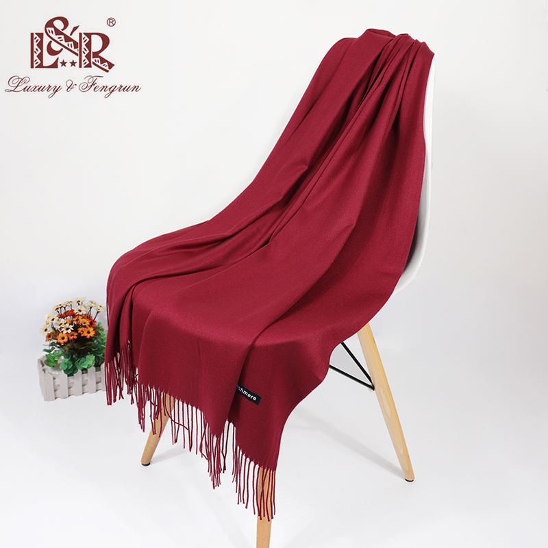 2019 Real Cashmere Women Scarf Winter Shawl Foulard Echarpe Femme Pashmina Kerchief Wool Stole Lic Winter Scarf For Lady Tippet