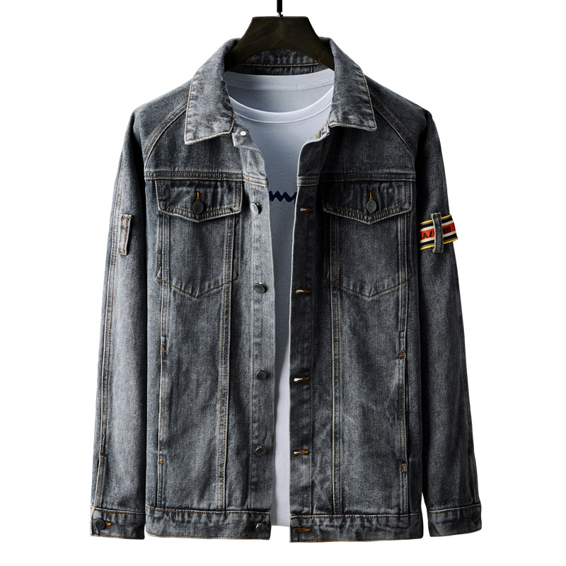 Men Jackets  Jackets and Coatsdenim Jacket Jean Jacket Men  College Hiphop Coats Men Casual Solid Conventional Double  Breasted