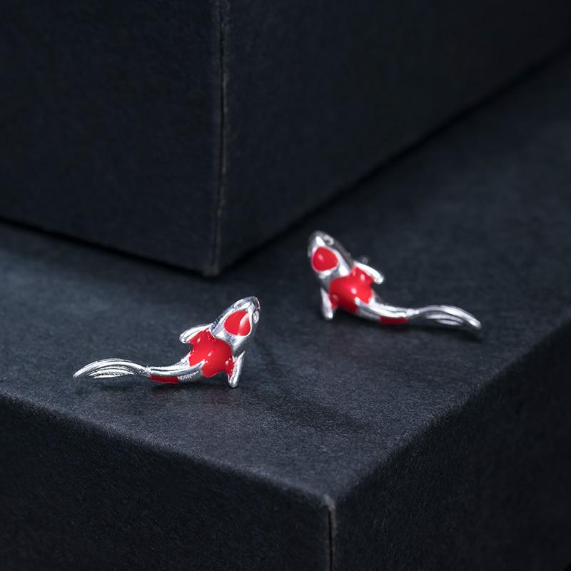 Женские серьги в виде рыбок VLA, серебро 925 пробы с эмалью, креативный подарок на день рождения, серьги в стиле ретро, 2021