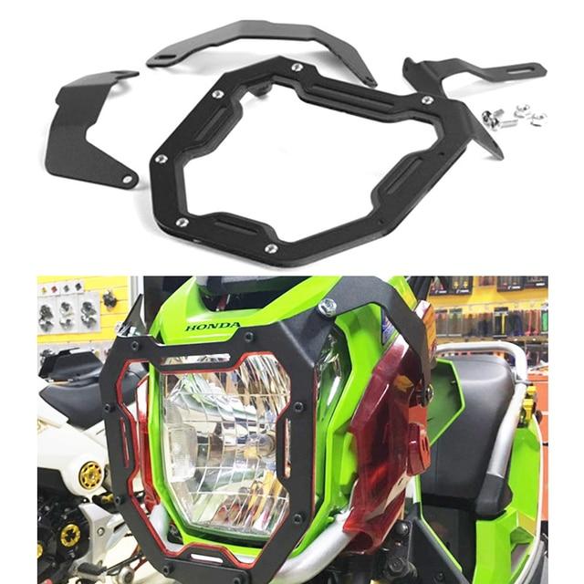 Motorcycle Head Light Mask For Honda Zoomer X110 Headlight Aluminum Alloy Protect Shield Motor Accessories 5