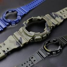 Аксессуары для часов Ремешок из смолы мужской ремешок с пряжкой с язычком для Casio G-SHOCK GA-110 GA-100 5146 5081 водонепроницаемый ремешок для часов