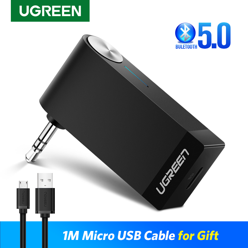 Ugreen Bluetooth Receiver 5.0 Wireless AptX LL 3.5mm Car Aux 3.5 Jack Stereo Adapter Music Headphone Bluetooth Audio Receiver