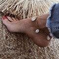 Богемный Браслет LETAPI в виде натуральной ракушки для женщин, ювелирные изделия для ног, Летний Пляжный браслет без лодыжки для женщин