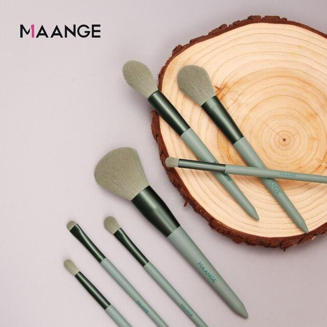 MAANGE 13pcs Quick-Drying Makeup Brush Set With Bag Soft Blush Loose Powder Highlight Eye Shadow Brush Portable Beauty Tool 4
