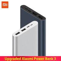 10000mAh Xiaomi Mi Power Bank ภายนอก 3 แบตเตอรี่ Bank 18W Quick Charge Powerbank 10000 พร้อม USB Type C สำหรับโทรศัพท์มือถือ external battery pack external batteryfast charging external battery -