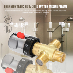 Image 3 - Hot/Cold Water Mixing Temperature Control Valve For Home Water Heater Bathroom Adjustable Valve Brass Water Mixer