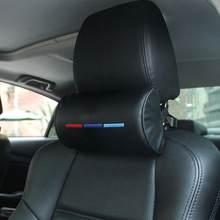 Encosto de cabeça do carro pescoço travesseiro para bmw m3 m5 x1 x3 x5 x6 e46 e39 couro pescoço proteção suporte encosto de cabeça do carro travesseiro