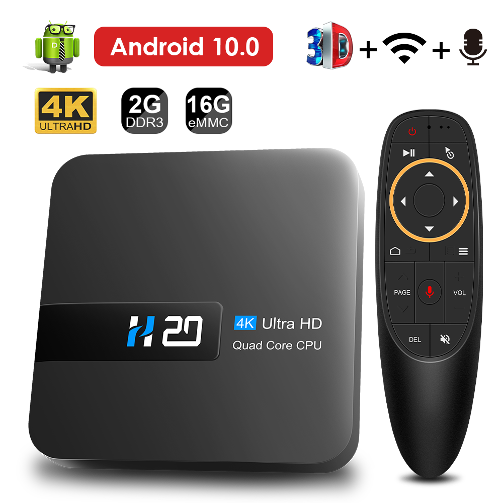 HONGTOP smart android tv box android 10 2GB 16GB tv box 4K 3D video H.265 media player voice assistant tv box android top box