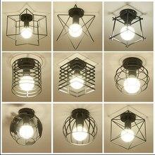 Moderne Nordic Alt-Fashioned Decke Lampe Retro Eisen Kunst Lampe Dekoration Wohnzimmer Bar Schwarz Und Weiß Loft E27 haushalt Lante