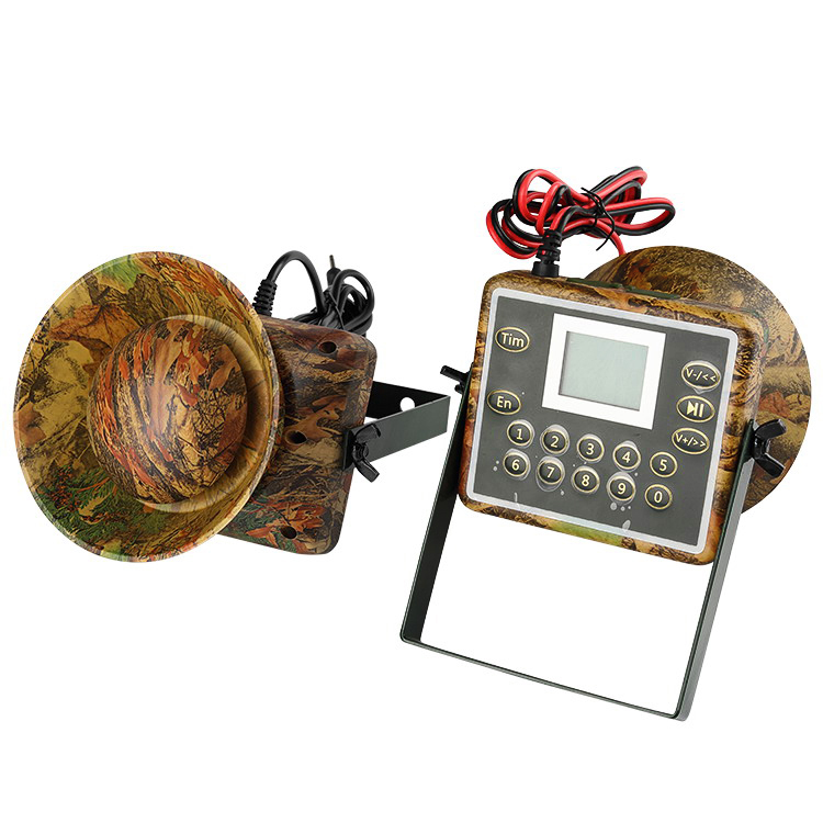 60W Speakers Hunting Decoy Waterproof Duck Bird Caller Sounds Trap Hunting Bird Device Mp3 Birds Player Camouflage Color