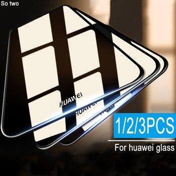 Перейти на Алиэкспресс и купить 3 шт защитное закаленное стекло для huawei P20 P30 P10 Lite Pro Защитная пленка для экрана для huawei mate 10 20 lite pro стекло
