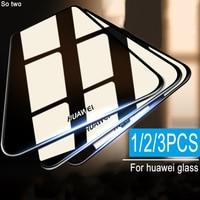 3 pçs protetor de vidro temperado no para huawei p20 p30 p10 lite pro filme protetor de tela para huawei companheiro 10 20 lite pro vidro Protetores de tela de telefone     -