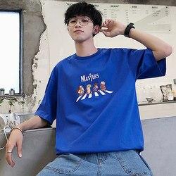 A maniche corte t-shirt casual da uomo semplice che basa la camicia mezzo abiti a maniche lunghe 8713