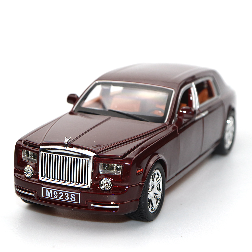 1/24 Six Door-Open Rolls-Royce Red Metal Model High-Scale Simulation Vehicle Car Alloy Toy Gift