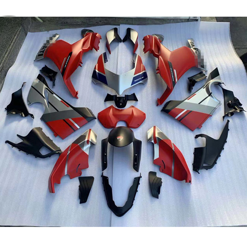 New Injection ABS Fairings Red Glossy Custom For Ducati V4 Panigale V4 2018 2019 2020 Panigale V4 S Can Be Customized