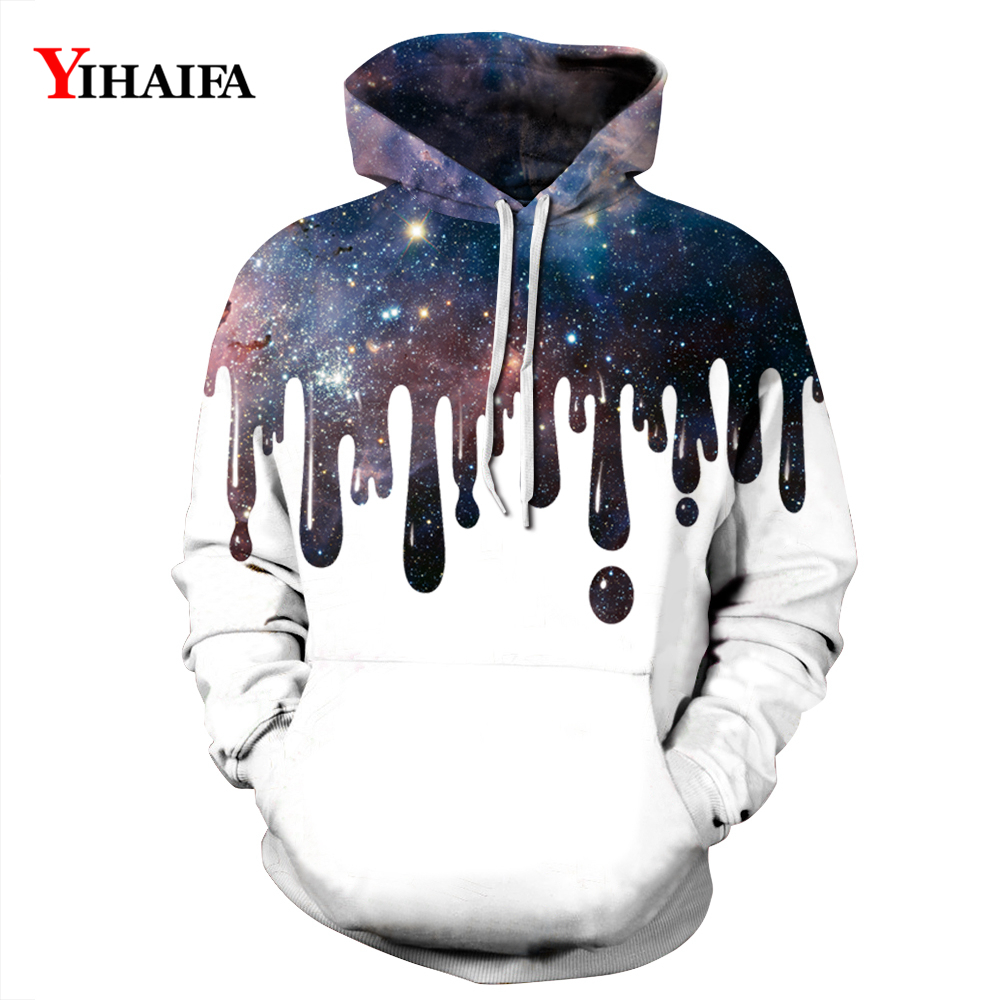 Newest Mens Womens 3D Hoodies Hipster Galaxy Starry Sweatshirt Graphic Casual Long Sleeve Pullover Tracksuit Tops