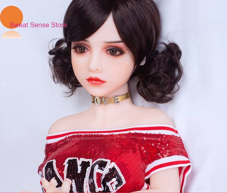 <font><b>Sex</b></font> <font><b>Doll</b></font> Realistic 100CM&110CM <font><b>Sex</b></font> Robot Real <font><b>Doll</b></font> Big <font><b>Eyes</b></font> and White Skin Anime Lifelike Silicone Full Tpe with Skeleton image