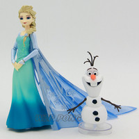 14cm Frozen Anna Elsa Princess Olaf Figurine Dolls Toys PVC Movable Joint Action Figure Collectible Model Toy for Birthday Gift