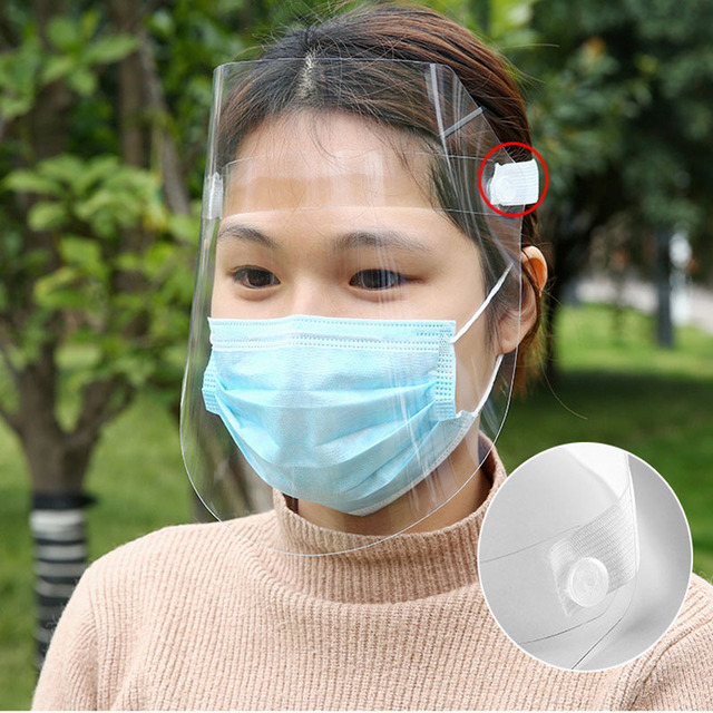 3 Pcs Transparent Masks Full Face Anti-droplets Anti-fog Saliva Face Shield Protective Cover protection Visor Shield Accessories 2