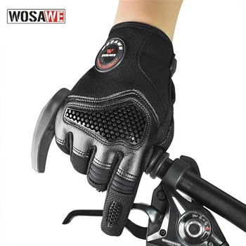 WOSAWE Men's Cycling Gloves Full Finger Shockproof Motorcycle Off-road Long Finger Touch Screen Mountain Bike Bicycle MTB Gloves free shipping newest mad bike stainless steel off road motorcycle gloves male summer automobile race knight gloves motorcycle