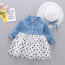 Baby Dresses with Hat 2019 New Spring Autumn Long Sleeve Gir