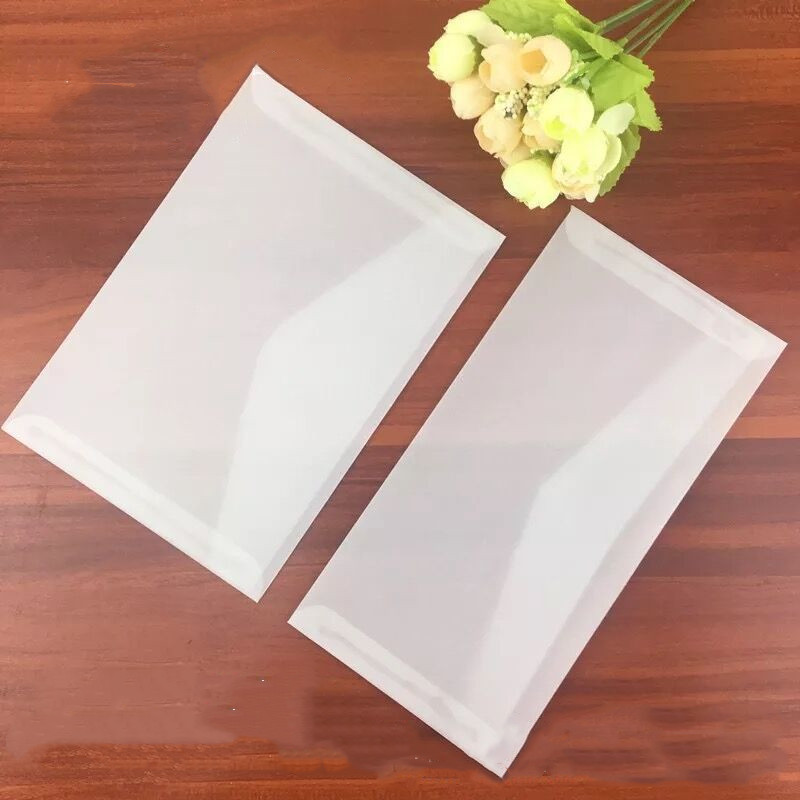 10pcs/lot Clear Parchment Paper Envelopes Retro Envelopes For Business Invatation Semitransparent Sulphuric Acid Paper Envelopes