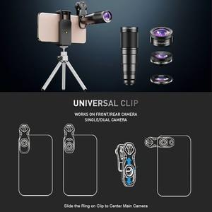 Image 5 - APEXEL 2020 جديد HD الهاتف عدسة الكاميرا عدة 4in1 آلة تكبير تليفوتوغرافي أحادي تلسكوب 22X ماكرو عدسة عين السمكة واسعة مع ترايبود عن بعد