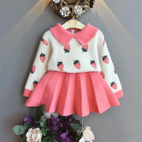 2020 Baby Girl Fashion Clothing Set Cute Bow Sweaters+plaid Dress,girls Infant Elegant Clothes Sets Children Party Birthday Wear 15