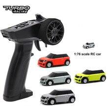 1:76 turbo carro de corrida rc mini proporcional completa corrida elétrica rtr carro kit 2.4ghz experiência de corrida carro crianças brinquedos novo carro patente
