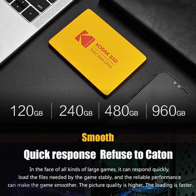 Kodak X100 dahili katı hal sürücü 120GB 240GB 480GB 960GB 2.5 inç SATA III SSD HDD sabit Disk HD dizüstü bilgisayar