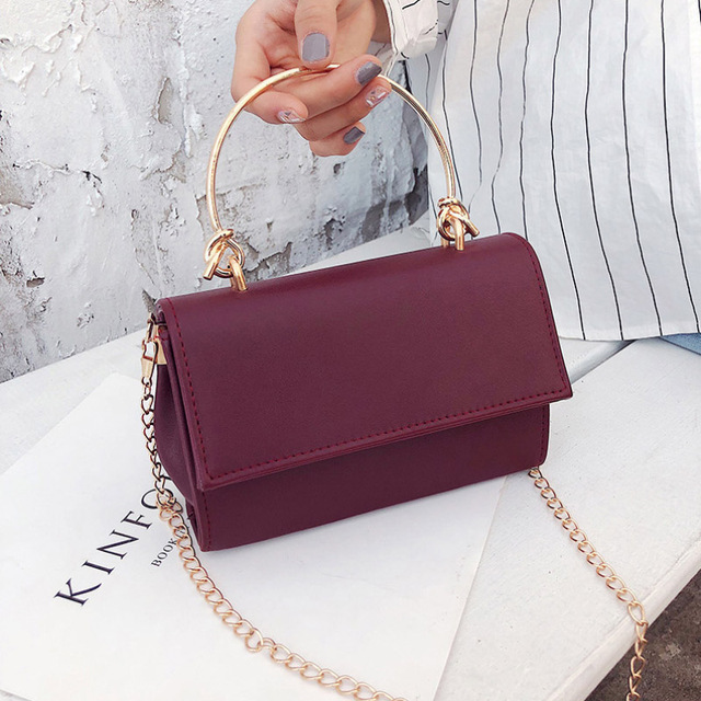 XIAODOO Fashion Chain Shoulder Bags Women Famous Brand High Quality Handbag Female Solid Color Luxury Crossbody Evening Bag 2019
