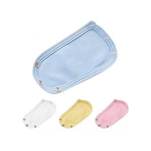 4Pcs/Set Baby Bodysuit Jumpsuit Diaper Lengthen Extender Extension Cotton Solid Soft Jumpsuit Extender